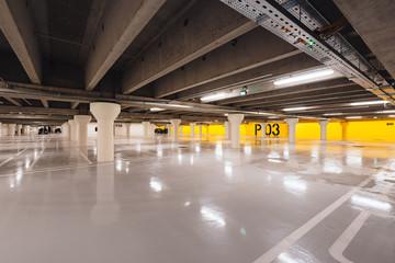 Underground parking in Odense, Denmark