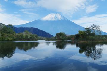 湖と逆さ富士山