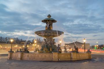 Fountain at Place de la Concord in Paris