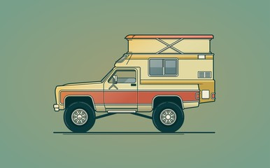 airstream camper illustration