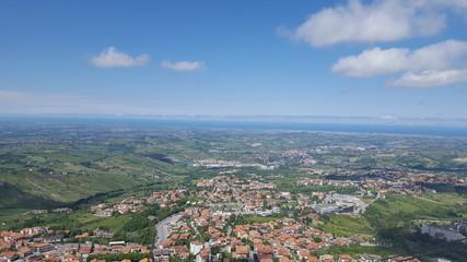 View from San Marino at italy