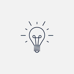 Idea bulb icon simple illustration