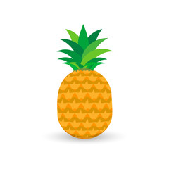 Pineapple icon isolated on white background.
