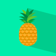 Pineapple icon with long shadow.