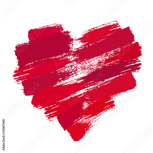 Painted Heart from Brush Strokes