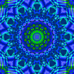 green blue kaleidoscope