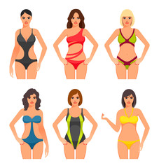 Women in swimsuit.