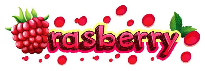 Font design for word raspberry