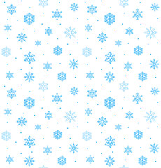 beautiful snowflake vector seamless backdrop happy christmas wra