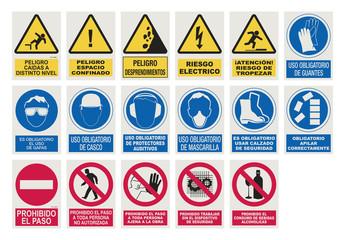 Panneaux de chantier Espagnols