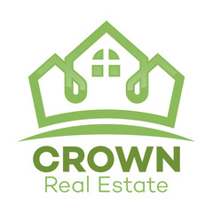 Real estate and crown logo