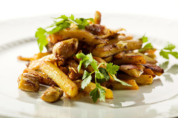 Pan Fried Potatoes Dressed with Parsley