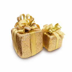 Christmas and New Year's Day Golden Gift boxes , Gift boxes whit