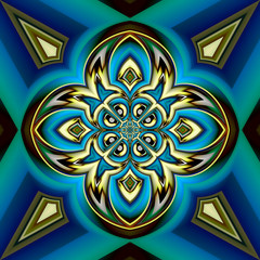 Abstract background with a pattern in a central symmetry
