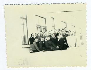 Vintage old photos of people the Soviet era