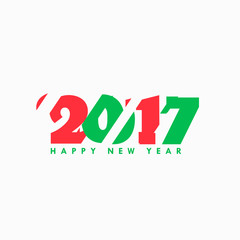 2017 abstract text in red and green text