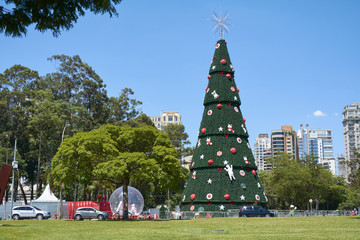 Christmas tree at Ibirapuera in Sao Paulo city.
