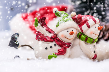 Christmas and Happy New year, winter concept