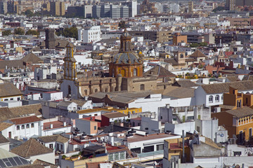 Seville City in Spain from the Cathedral of Saint Mary of the See