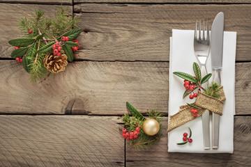 Festtafel zu Weihnachten