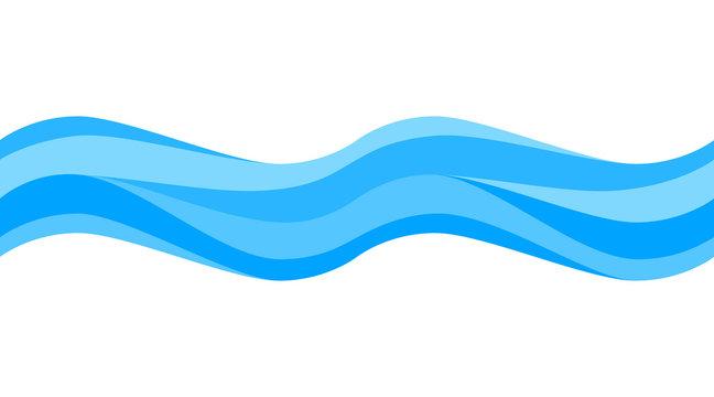 Seamless blue wave