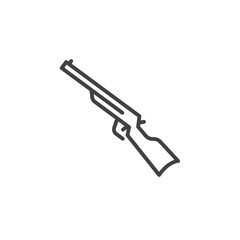 Shotgun, carbine line icon, outline vector sign, linear pictogram isolated on white. Symbol, logo illustration