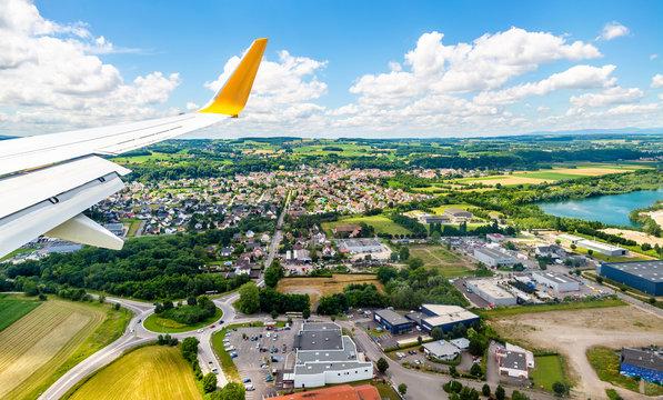 Landing at Euroairport Basel-Mulhouse-Freiburg