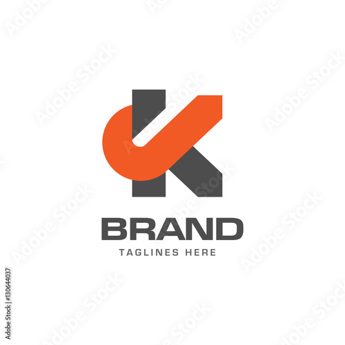 letter k logo strong elegant classy concept creative letter k template logo