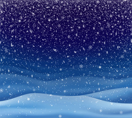 Background with Falling Snow