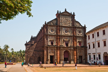 Wall Murals Monument Basilica of Bom Jesus, Old Goa, India