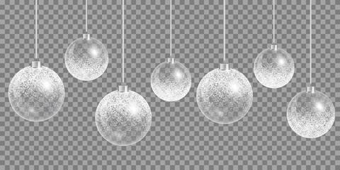 Christmas ball ornament. Happy holidays vector. New year celebration.