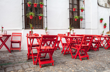 Outdoor terrace in andalusia