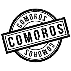 Comoros rubber stamp. Grunge design with dust scratches. Effects can be easily removed for a clean, crisp look. Color is easily changed.