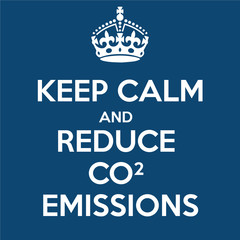 Keep Calm Reduce Carbon Emissions