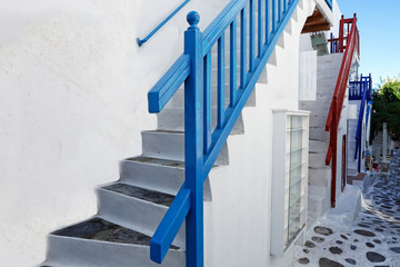 Foto op Plexiglas Trappen Mykonos, Greece