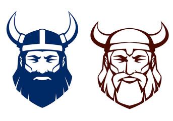 line illustration of an ancient viking warrior