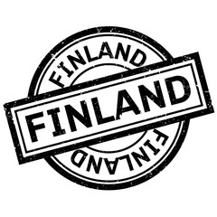 Finland rubber stamp. Grunge design with dust scratches. Effects can be easily removed for a clean, crisp look. Color is easily changed.