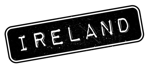 Ireland rubber stamp. Grunge design with dust scratches. Effects can be easily removed for a clean, crisp look. Color is easily changed.