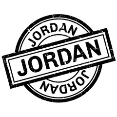Jordan rubber stamp. Grunge design with dust scratches. Effects can be easily removed for a clean, crisp look. Color is easily changed.