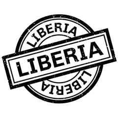 Liberia rubber stamp. Grunge design with dust scratches. Effects can be easily removed for a clean, crisp look. Color is easily changed.