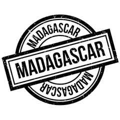 Madagascar rubber stamp. Grunge design with dust scratches. Effects can be easily removed for a clean, crisp look. Color is easily changed.