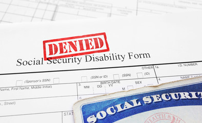 Denied Social Security disability application