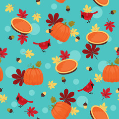 Traditional Thanksgiving seamless pattern