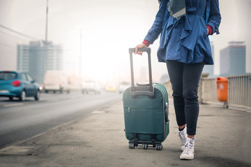 Travelling with a light suitcase