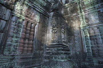 Female Deities at Ta Prohm Temple