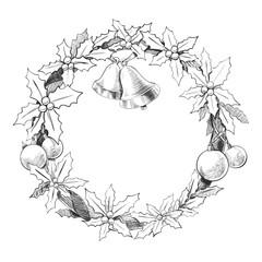 Christmas wreath garland.