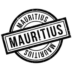 Mauritius rubber stamp. Grunge design with dust scratches. Effects can be easily removed for a clean, crisp look. Color is easily changed.