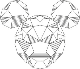 Mickey Mouse triangle shape