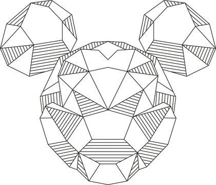 Mickey Mouse triangle shape