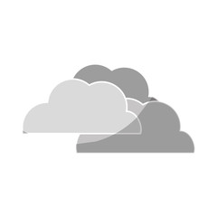 cloud weather icon over white background. vector illustration